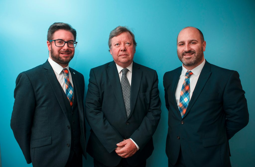 Andrew Mackenzie, Chief Executive of the Scottish Arbitration Centre, Rt Hon Lord Carloway; Lord President of the Court of Session, and Brandon Malone, Chairman of the Centre.